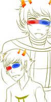 Sollux and  The Helmsman by TaPloAlBoReMiXxz