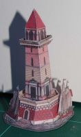 Phare sur Ocean - Vintage Papercraft by SarienSpiderDroid