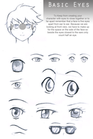 Basic Eyes Reference Sheet by Sapheron-Art