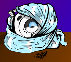 Wheatley in a Blanket by superskeetospro