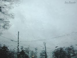 Windshield Raindrops by Bickhamsarah