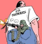 Iraq war cost to US taxpayers by Latuff2