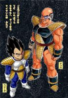 Vegeta and Nappa Kai colored by kibasennin