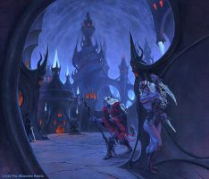 Taaryssia - City of the Drow by SpiralMagus