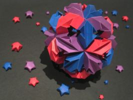 Chrysanthemum Kusudama by crimson-ryu