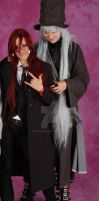 Grell and Undertaker Cosplay -posing for camera- by ReCentXIII