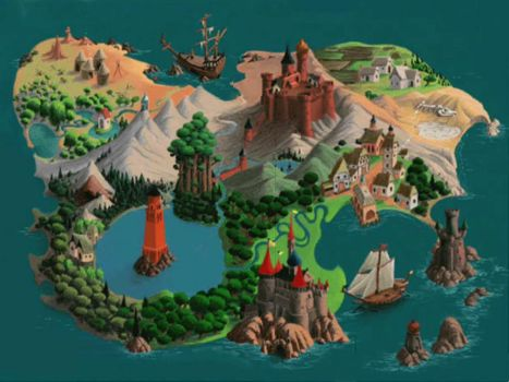 Entire map of Gamelon by NightmareBros