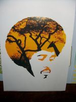 Afro Stencil by Hyge