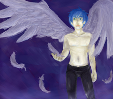Fayt as... an angel thingy by everything-anime