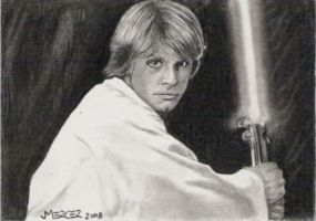 Young Skywalker sketch card by jenchuan