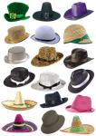 18 Hats PNG by Anavrin2010