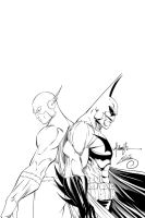 Batman and The Flash Ink#1 by SWAVE18