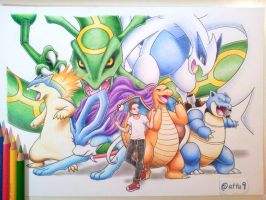 Team drawing (commission) by atta9