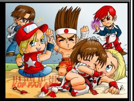 KOF chibi teams by ArtBennyRGrau