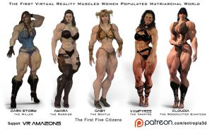 VR-AMAZONS First 5 Girls promo by Entropia3D