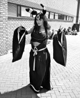 Umbreon from Pokemon (in black and white) by ZeroKing2015