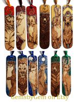 Coloured Bookmarks with Sparkles by BumbleBeeFairy