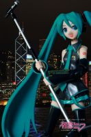 Figma Hatsune Miku at night by OvermanXAN