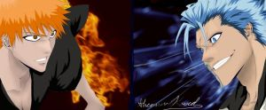 Grimmjow Vs. Ichigo (Bleach) by ChAoTiC-Flames