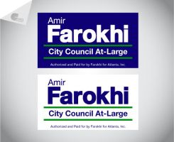 Amir Farokhi Yard Sign by jmillgraphics