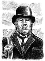 Oddjob sketch card by dalgoda7