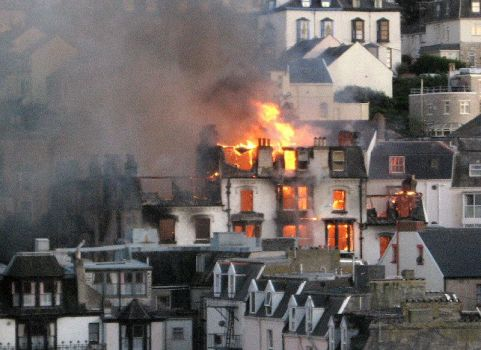 hotel fire Ilfracombe by hamish1511