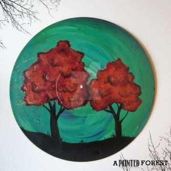 Vinyl Record Painting! by paperheartsyndrome