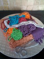 Knitting Cake by cakesbyrachel