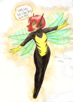 Cpt. Holly Short as The Wasp by watermelemon