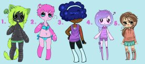 | Points/Cash Mixed Adopts : OPEN | by Vulx-Adoptables