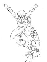 Naruto vs saske uncolored by Marvelartist