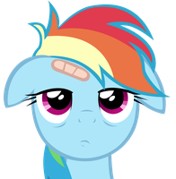 Rainbow Dash bored to death by V-D-K