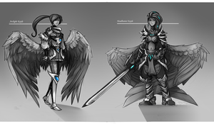 Kayle Skin Concepts by VanchaMarl