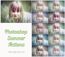 FREE Summer Photoshop Actions by ibjennyjenny