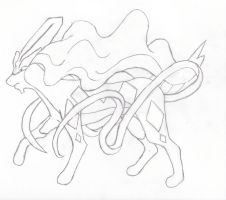 Pencil Suicune by Adin-Jenks