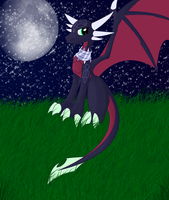 cynder on the grass by wolf-whisper426