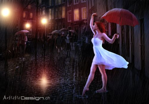 Dancing In The Rain by art1st1cDes1gn