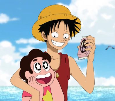 Luffy and Universe Crossover by fantoondigital