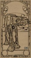 AT-AT by Fluorescentteddy