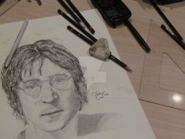 John Lennon Sketch by lucasnetto