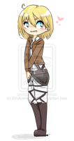 Commission: Krista Lenz chibi by EmiAnimeOriginal
