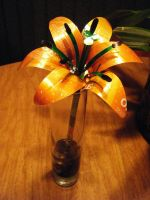 Recycled Pop Can Orange Lily3 by Christine-Eige