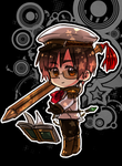 Chibi Warrior with Pencil of Doom? by ROSEL-D