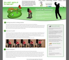 Fluid Golf Trainer Website by dhrandy