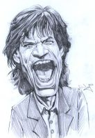 Mick Jagger - sketch by aaronwty