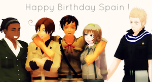 Happy (late) Birthday Spain ! by Shichi-4134