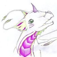 Young sky dragon part - colour by Celestial-Poet