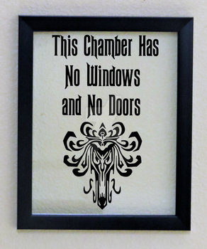 Framed Haunted Mansion Wall Decor Quote by SilhouettesbyMarie