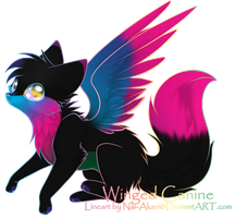 CLOSED - Winged canine by AcidicAdopts