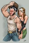 wolverine and rogue colour by thenota